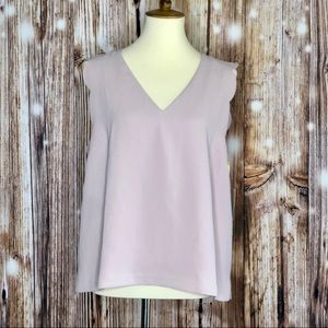 NWT CeCe Steffe Scallop Edge Blouse Top Large